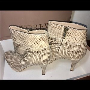 J CREW AUTHENTIC PYTHON SKIN BELLAMY Boots Size 7